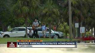Parent parking frustrates homeowner - Video