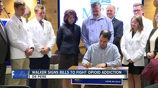 Governor Walker signs bills to fight opioid addiction - Video