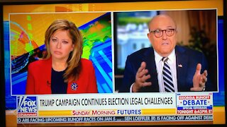 Rudy Giuliani Lest public interview on Sunday Morning futures Before diagnosed with Covid