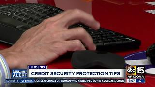 Credit security protection tips - Video