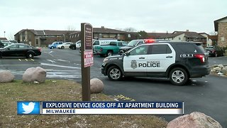 Explosive device detonates in man's hands near 91st and Brown Deer