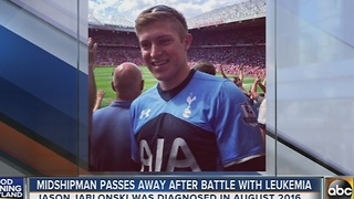 Midshipman passes away after battle with leukemia - Video