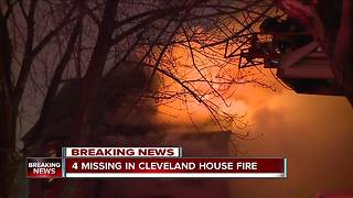UPDATE: Four missing after fire on Cleveland's east side - Video