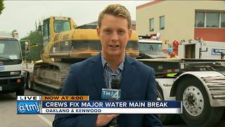 Major water main break on East side - Video