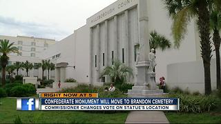 Hillsborough County commissioners vote to relocate Confederate statue to private cemetery