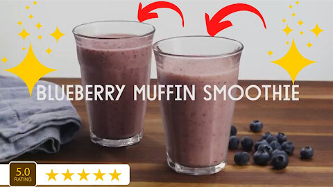 Blueberry Muffin Smoothie A Fun Fast Easy and Delicious Recipe