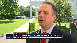 White House Chief of Staff Reince Priebus says Trump met with Foxconn - Video