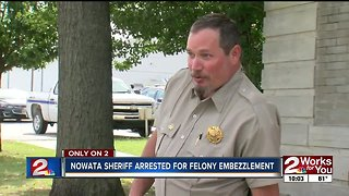 Nowata sheriff arrested for felony embezzlement