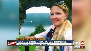Death in Bonita Springs house fire investigated as a homicide - Video