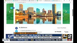 Survey: Baltimore 41st best place to retire - Video