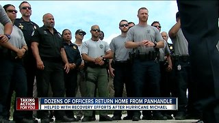 Tampa Officers return home after weeks of Hurricane Michael recovery mission
