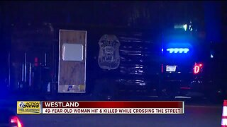 49-year-old woman hit and killed while crossing street in Westland