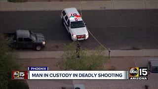 Man in custody after deadly shooting in north Phoenix