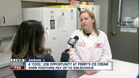 Perry's Ice Cream offers cross training, different job opportunities
