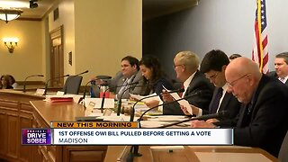 1st offense OWI bill pulled before getting a vote