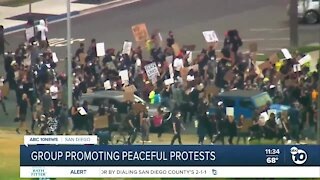 Group promoting peaceful protests
