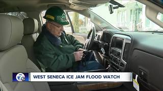 Ice jam flood watch in West Seneca - Video