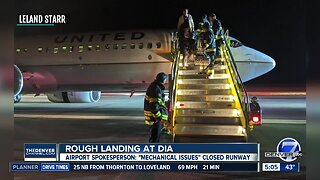 United flight makes rough landing at DIA after mechanical issue upon landing