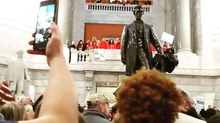 Thousands Converge on Kentucky Capitol for Teacher Protest - Video