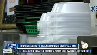 City Council members to discuss styrofoam ban
