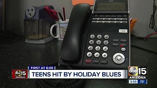 Crisis call centers seeing spike in calls from teens around holidays
