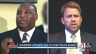Governor appoints 2 to KCMO police board - Video