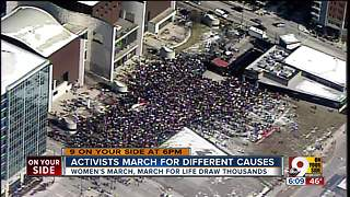 Thousands march Downtown Saturday - Video