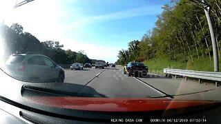 Moment speeding motorist gets instantly pulled over by police on Michigan highway