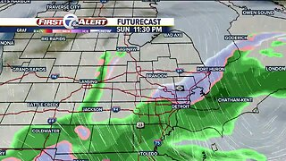 Cooler temps and snow showers tonight