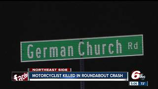 Motorcyclist killed in roundabout crash
