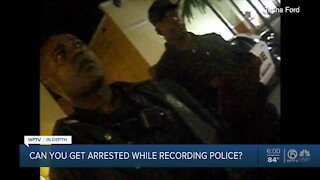 Can you be arrested for recording police?