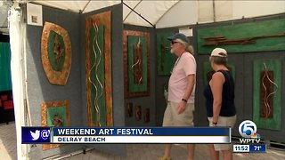 Weekend art festival held in Delray Beach