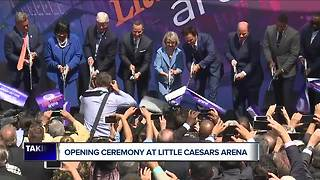 Opening ceremony takes place at Little Caesars Arena - Video