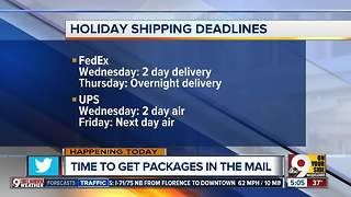 It's crunch time to get those holiday gifts in the mail - Video