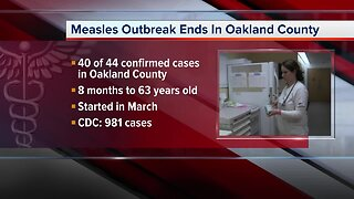 The measles outbreak in Oakland County has officially ended