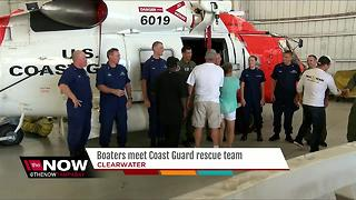 Boaters meet Coast Guard rescue team - Video