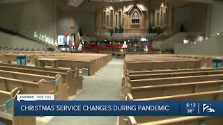 Christmas service changes during pandemic