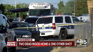 Two people shot and killed inside south Phoenix home - Video