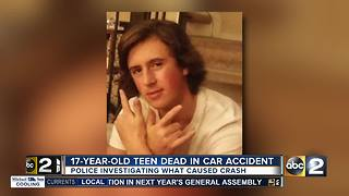 Harford Co. teen killed in accident, police investigating cause - Video