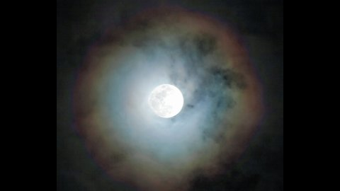 Rare Moonbow caught on video!