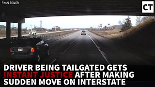 VIDEO: Driver Being Tailgated Gets INSTANT Justice After Making Sudden Move On Interstate - Video