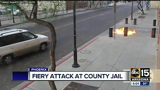 Man throws Molotov cocktails at 4th Avenue Jail downtown - Video