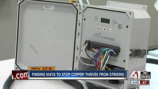 Olathe company creates technology to help deter copper thieves - Video