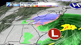 Winter Storm Brushes By South