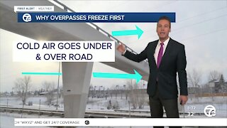 Why overpasses freeze first