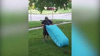 Inflatable Sleeping Bag Fail - Video