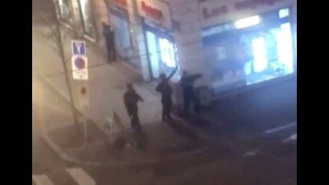 Police Seen Near City Center After Gunfire in Strasbourg