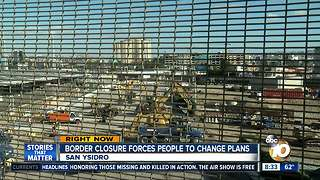 Border closure forces people to change their plans - Video