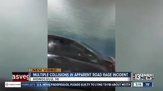 Multiple collisions in Honolulu road rage incident caught on camera - Video