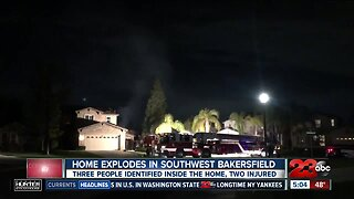 Home explodes in Southwest Bakersfield
